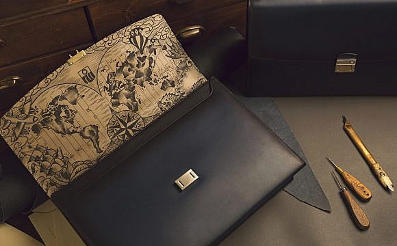 Montblanc tattoos its leather bags